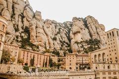 Montserrat Monastery in Catalonia, Spain royalty free stock photo