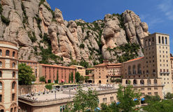 Montserrat monastery. Catalonia, Spain. View of Montserrat Monastery. High in mountains. Catalonia. Spain Stock Images
