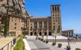 Montserrat Monastery cerca de Barcelona Imagenes de archivo