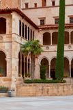 Montserrat Monastery fand auf dem Berg Montserrat nahe Barcelona, Katalonien, Spanien Stockbilder
