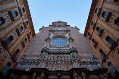 Montserrat Monastery fand auf dem Berg Montserrat nahe Barcelona, Katalonien, Spanien Lizenzfreie Stockfotografie