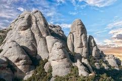 Montserrat monastery landscape view panorama Royalty Free Stock Photos