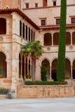 Montserrat Monastery localizó en la montaña Montserrat cerca de Barcelona, Cataluña, España Imagenes de archivo