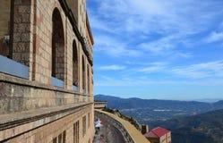 Montserrat monastery (monastery of Montserrat)Arca. Hispaniae. The Benedictine Monastery of Montserrat (Monasterio de Montserrat) is a recognized landmark Stock Image