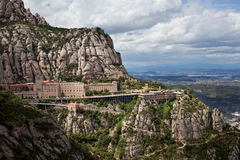 Montserrat Monastery and Mountain in Catalonia Stock Images