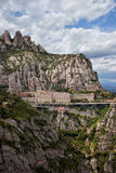 Montserrat Monastery and Mountains in Catalonia Royalty Free Stock Image