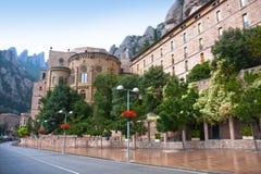 Montserrat Monastery in the mountains near Barcelona, Spain Stock Photos