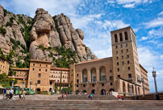 Montserrat Monastery in the mountains near Barcelona, Spain Royalty Free Stock Image