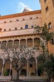 Montserrat Monastery nära Barcelona, Spanien Arkivbild