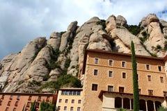 Montserrat Monastery, near Barcelona, Spain Stock Images