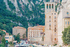 Montserrat monastery near Barcelona, Spain Stock Photography