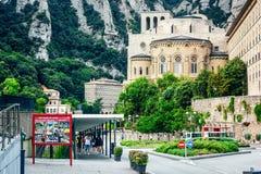 Montserrat Monastery, Santa Maria de Montserrat ist eine Benediktinerabtei, die in der Nähe auf dem Berg von Montserrat von Barce Lizenzfreies Stockfoto