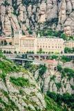 Montserrat Monastery, Santa Maria de Montserrat ist eine Benediktinerabtei, die in der Nähe auf dem Berg von Montserrat von Barce Stockfotografie