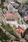 Montserrat Monastery von oben Stockfotografie