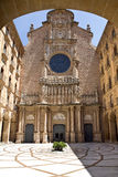Montserrat monestir. Montserrat Monastery, a spectacularly beautiful Benedictine Abbey high up in the mountains near Barcelona, Catalonia, Spain Royalty Free Stock Image