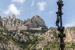 Montserrat. The Monserrat abby on the outskirts of Barcelona Spain Royalty Free Stock Image