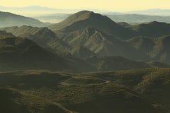 Montserrat mountain. The Montserrat mountain peaks in sunset, Catalonia, Spain Stock Photo