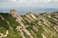 Montserrat mountain. View of Montserrat mountain in Catalonia Stock Image