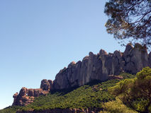Montserrat Mountain, Barcelona Region, Spain. Montserrat is a multi-peaked rocky range located near the city of Barcelona, in Catalonia, Spain. It is part of the royalty free stock photography
