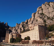 Montserrat mountain and Benedictine monastery. In Catalonia, Spain Royalty Free Stock Images