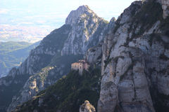 Montserrat mountain in Catalonia, Spain. Landscape of Montserrat mountain in Catalonia, Spain stock images
