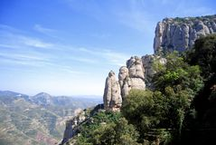 Montserrat mountain, Catalonia Spain, landscape Stock Image