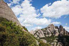 Montserrat Mountain en Catalogne Photographie stock