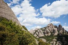 Montserrat Mountain i Catalonia Arkivbild