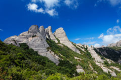 Montserrat is a mountain near Barcelona Royalty Free Stock Image
