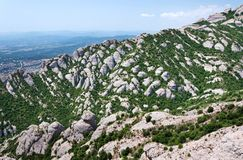 Montserrat is a mountain near Barcelona Royalty Free Stock Photo