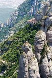 Montserrat is a mountain near Barcelona Stock Images