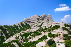 Montserrat is a mountain near Barcelona. Royalty Free Stock Photo