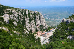 Montserrat is a mountain near Barcelona. Royalty Free Stock Photos