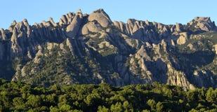 Montserrat mountain. Montserrat is a mountain near Barcelona, in Catalonia. It is the site of a Benedictine abbey, Santa Maria de Montserrat royalty free stock image