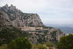 Montserrat is a mountain near Barcelona, in Catalonia Stock Photo