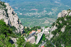 Montserrat mountain near Barcelona, in Catalonia Royalty Free Stock Images