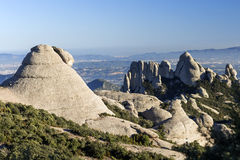 Montserrat mountain. Near Barcelona, in Catalonia, Spain stock photo
