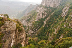 Montserrat mountain near Barcelona in Catalonia, Spain Royalty Free Stock Photos