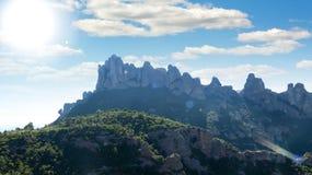 Montserrat mountain  near city of Barcelona Stock Images