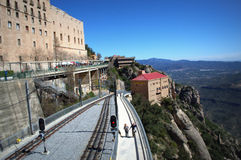 Montserrat mountain railroad line,Spain Stock Photography