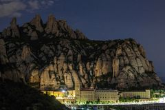 Montserrat mountain range. Catalonia, Spain royalty free stock images