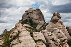 Montserrat Mountain in Spain Stock Photography