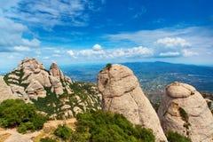 Montserrat mountain. Summer landscape stock photography