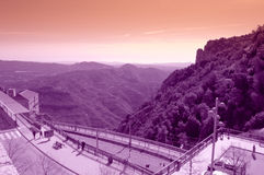 Montserrat mountain viewpoint,Spain Stock Images