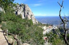 Montserrat Mountain viewpoint,Spain Royalty Free Stock Photos