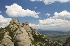 Montserrat mountains Stock Images