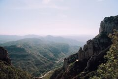 Montserrat Mountains Royalty Free Stock Photo