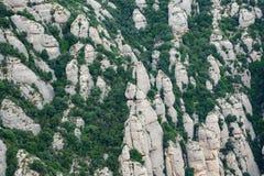 Montserrat mountains closeup, Spain Royalty Free Stock Images