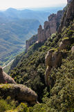 Montserrat Mountains nära Barcelona, Spanien Royaltyfria Bilder