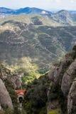 Montserrat Mountains nära Barcelona, Spanien Arkivfoton